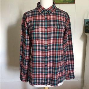NWOT Patagonia Organic Cotton Flannel Shirt Size 8